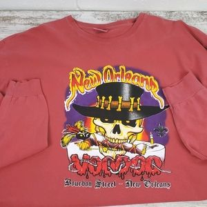 New Orleans Voodoo Bourbon St, long sleeve tee XL